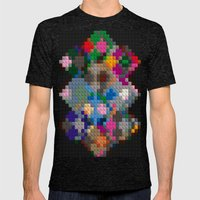 Building Blocks Mens Fitted Tee Tri-Black SMALL