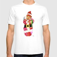 Red & Green Tidings Mens Fitted Tee White SMALL
