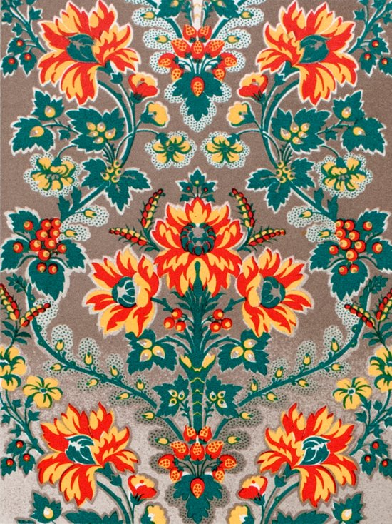 Vintage Floral Pattern 18th Century Decorative Ornate Fancy Art Print