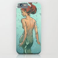 mermaid iPhone & iPod Cases featuring Mermaid by Eric Persson