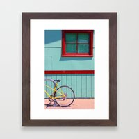 Yellow Bicycle Framed Art Print