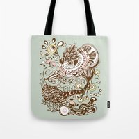Zentangle Green Flower R… Tote Bag