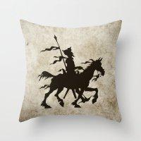 Don Quixote - Digital Work Throw Pillow