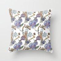 Ocarina Patterns Throw Pillow