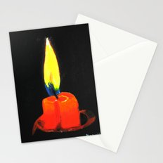 Candle in the night Stationery Cards