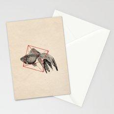 Fish In Geometrics III Stationery Cards
