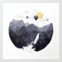 Roundscape II Art Print