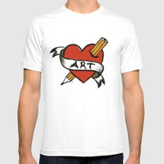 In love with Art Mens Fitted Tee White SMALL