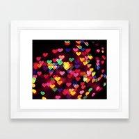 Hearts All Over Framed Art Print