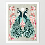 Peacocks By Andrea Laure… Art Print