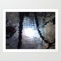 Reflection on the water III Art Print