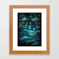 Space Ship Framed Art Print