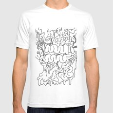 Blood and Guts Mens Fitted Tee White SMALL