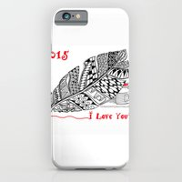 iPhone Cases featuring I love you 2015 Zentangle Illustration by Vermont Greetings