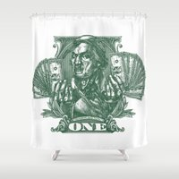 One Dolla Bill Shower Curtain