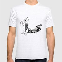 Dragon of the Dark Mens Fitted Tee Ash Grey SMALL