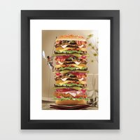 Hamburger Tower Framed Art Print
