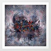 Abstract Wash 3 Art Print