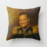 Robin Williams - Replace… Throw Pillow