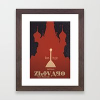 Zhivago - Alternative Movie Poster Framed Art Print