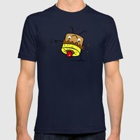 Pineapple Upside Down Cake Mens Fitted Tee Navy SMALL