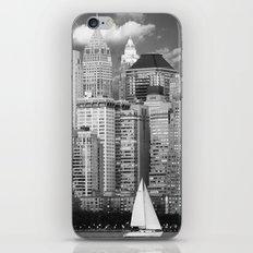 Manhattan in Black & White (New York, NY, USA) iPhone & iPod Skin