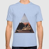 Cibeles Mens Fitted Tee Tri-Blue SMALL