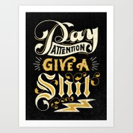 Pay Attention  Art Print