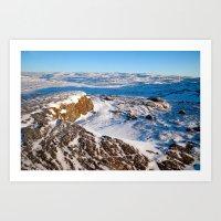 Rock, Snow, & Sky Art Print