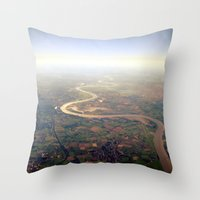 Rhine From Above. Throw Pillow