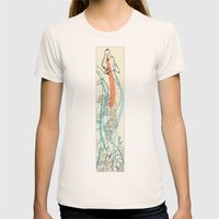Bramble Fox Womens Fitted Tee Natural SMALL