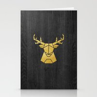 Geometry Of A Deer Stationery Cards