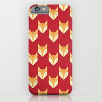 iPhone & iPod Case featuring Mr. Fox Pattern by Erika Noel Design