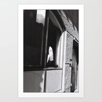 Girl At The Window, Stoc… Art Print