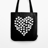 Hearts On Heart White On… Tote Bag