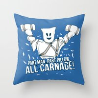 All Carnage! Throw Pillow