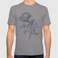 Graphic drawing roses Mens Fitted Tee Tri-Grey SMALL