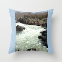 Throw Pillow featuring Great Falls National Park by Rogue Crafter
