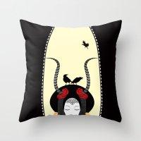 Dream of a Raven Throw Pillow