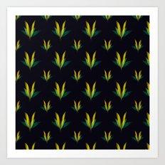 Linear flowers Art Print