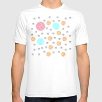 Broken Orbs (ColorOnWhite) Mens Fitted Tee White SMALL