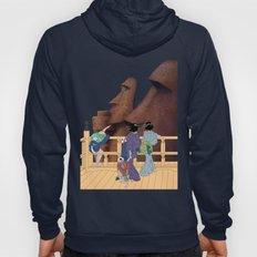 Hokusai People & Moai Hoody