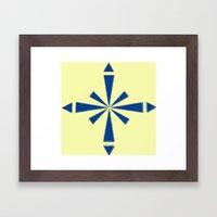 Blue Asterisk Framed Art Print