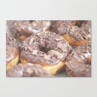 Chocolate Donuts Canvas Print