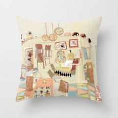 ---garden--cafe--- Throw Pillow