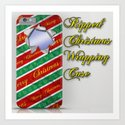 Ripped Christmas Wrapping Art Print
