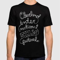 Scripted Mens Fitted Tee Black SMALL