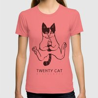 twenty cat Womens Fitted Tee Pomegranate SMALL