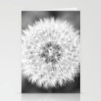 Black & White Dandelion Stationery Cards