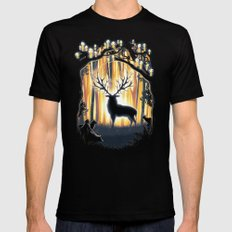 Master of the Forest SMALL Black Mens Fitted Tee